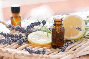 Aromatherapy set of items on a table